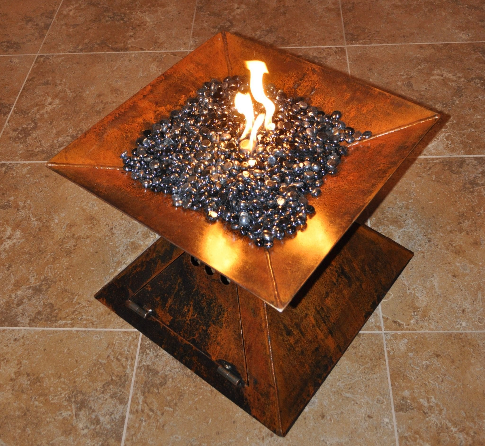 decorative metal work fabrication firepit