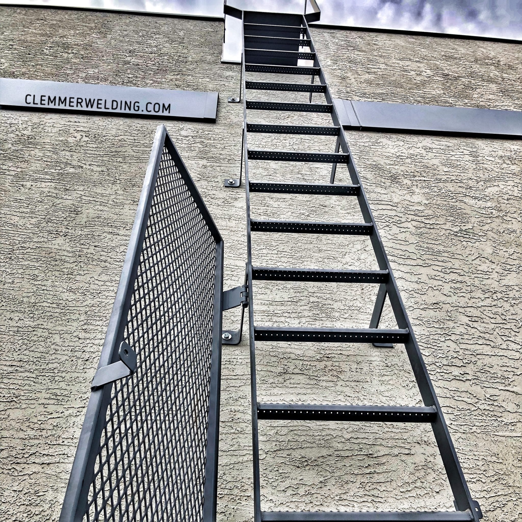 decorative metal work fabrication fire escape ladder