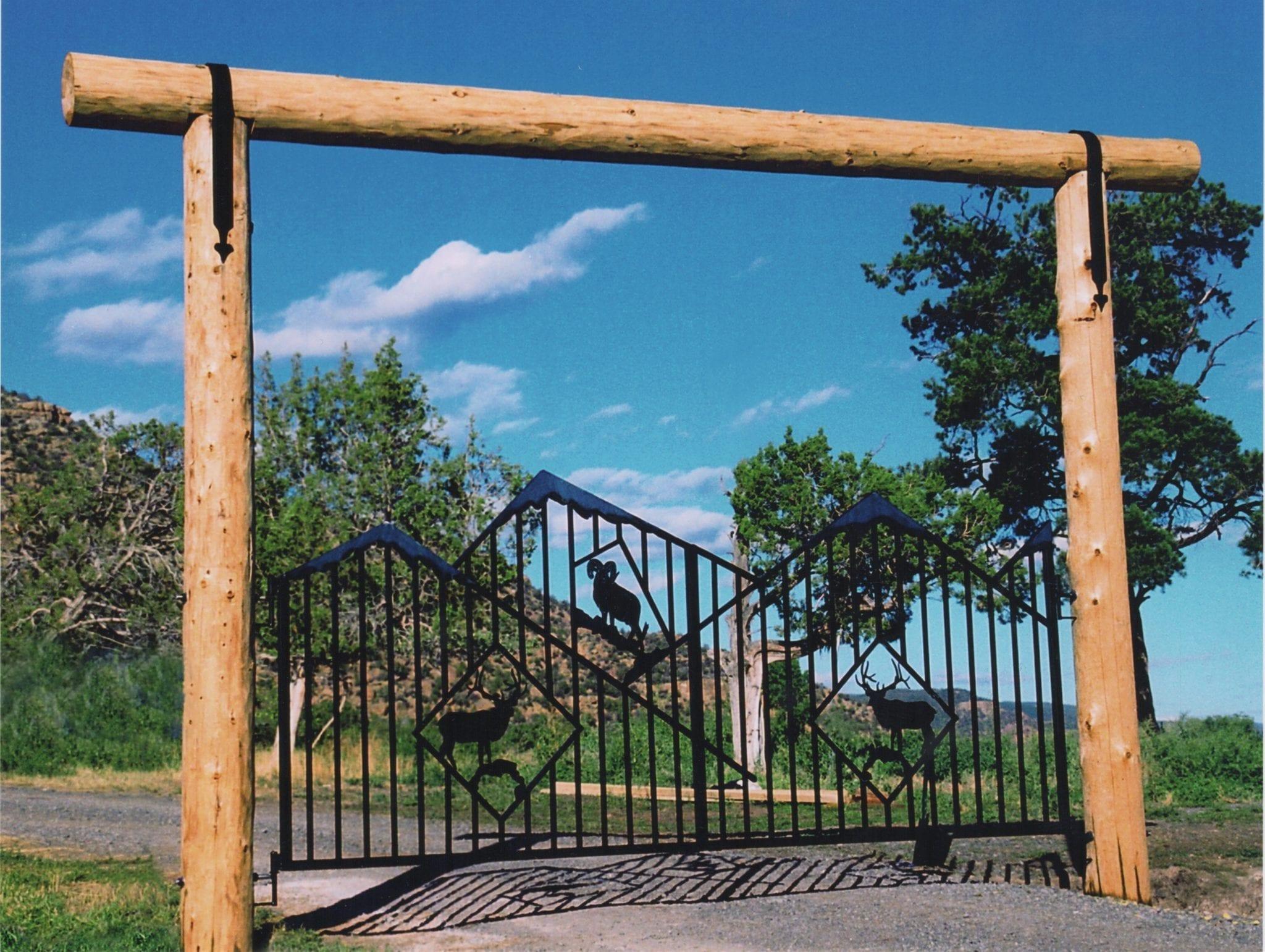 decorative metal work fabrication gate